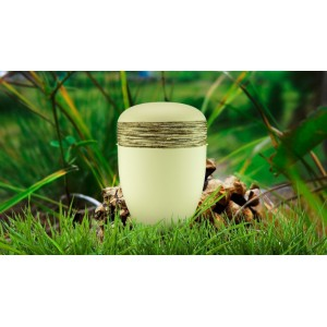 Biodegradable Cremation Ashes Funeral Urn / Casket - IVORY MIST