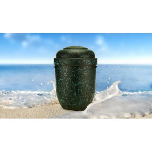 Speckled Black Opal Cremation Ashes NatureURN - Pay Love and Respect with The Natural Choice
