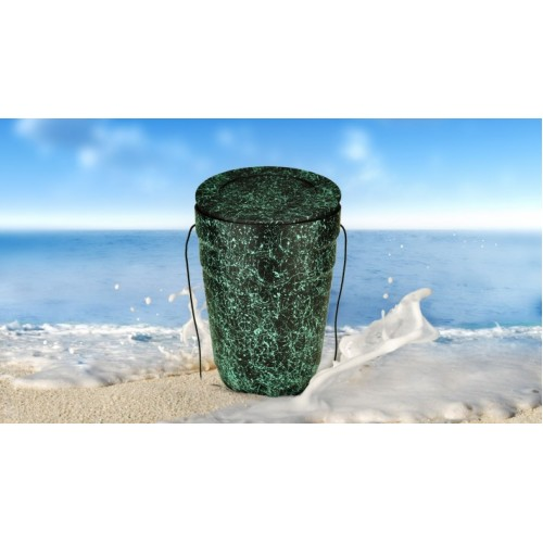 Black with Speckled Green Opal Cremation Ashes NatureURN - Creative Eco Friendly Funeral Products