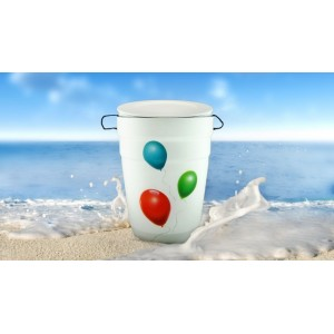 White Opal Cremation Ashes NatureURN - Airbrush Balloons - Quality Eco Friendly Funeral Products