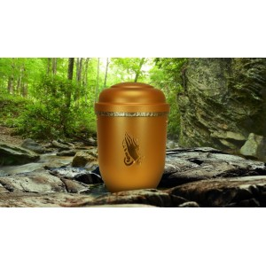 Biodegradable Cremation Ashes Funeral Urn / Casket - SHINING DAWN (PRAYING HANDS)