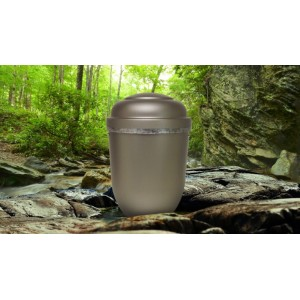 Biodegradable Cremation Ashes Funeral Urn / Casket - FREEDOM GREY