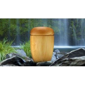 High Quality Hardwood (ASH) Cremation Ashes Urn - THE SPEY