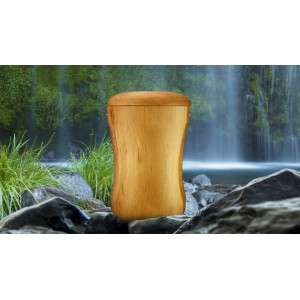 High Quality Hardwood (Ash) Cremation Ashes Urn - THE AVON
