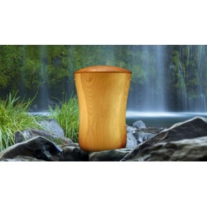 High Quality Hardwood (Ash) Cremation Ashes Urn - THE CALDER