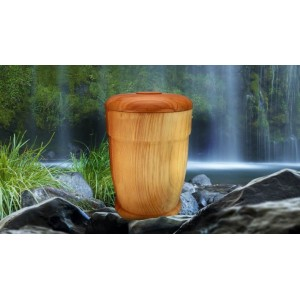 High Quality Hardwood (Ash) Cremation Ashes Urn - THE THAMES