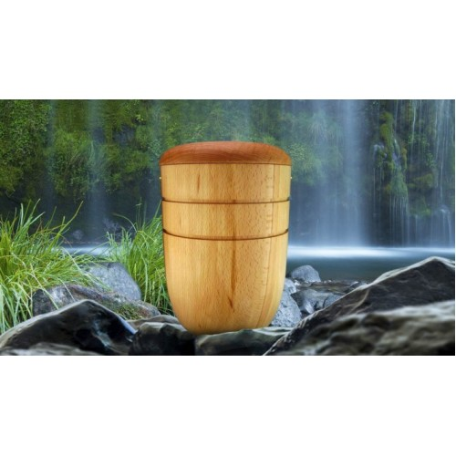 High Quality Hardwood (Ash) Cremation Ashes Urn - THE TRENT