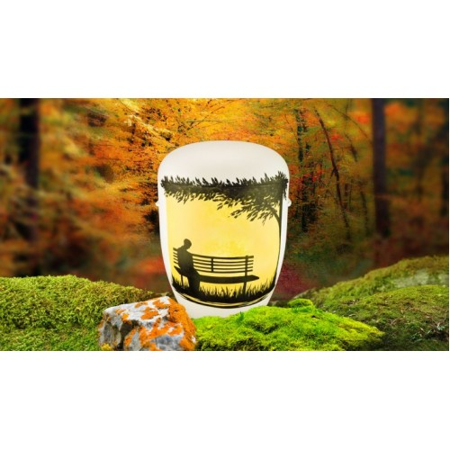 Biodegradable Cremation Ashes Funeral Urn / Casket - WOODLAND PARK