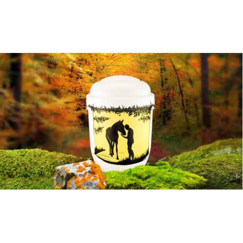 Biodegradable Cremation Ashes Funeral Urn / Casket - EQUESTRIAN
