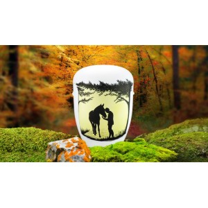 Biodegradable Cremation Ashes Funeral Urn / Casket - HORSE & RIDER