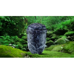 Biodegradable Cremation Ashes Funeral Urn / Casket - SAPPHIRE BLACK
