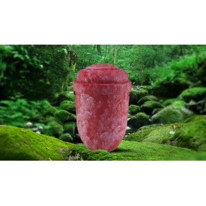 Biodegradable Cremation Ashes Funeral Urn / Casket - ACADIAN RED