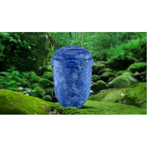 Biodegradable Cremation Ashes Funeral Urn / Casket - BLUE LAGOON