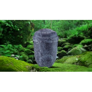 Biodegradable Cremation Ashes Funeral Urn / Casket - VIOLET BLUE