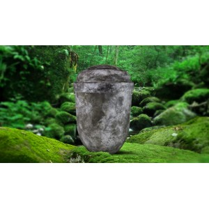 Biodegradable Cremation Ashes Funeral Urn / Casket - RUSTIC STONE