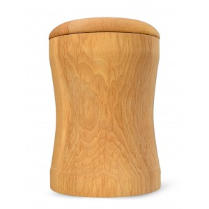 High Quality Hardwood (Beech) Cremation Ashes Urn - THE AVON