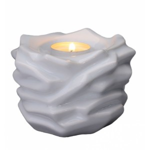 Jesus of Nazareth Eternal Flame - Ceramic Cremation Ashes Candle Holder Keepsake – White