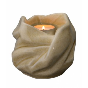Our Holy Mother Eternal Flame - Ceramic Cremation Ashes Candle Holder Keepsake – Light Sand
