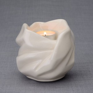Ceramic Candle Holder Keepsake Urn -  Virgin Mary – Translucent