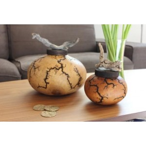 Biodegradable Cremation Ashes Urn / Keepsake - GOURD EARTHURN (Mini / Small Size)