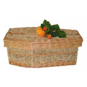 Lily - Willow & Cornskin Infant Casket