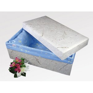 THE MULBERRY - Children / Infant Handmade Paper Funeral Coffin - (Baby / Child / Boy / Girl)