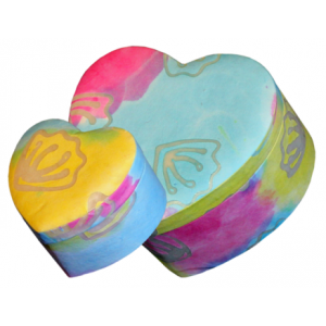 Pastel Unity Heart Earthurn ( Companion Size) – Suitable for 2 Sets of Cremation Ashes