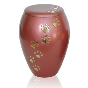 Brass - Pet Cremation Ashes Urn - Pink (FREE ENGRAVING)