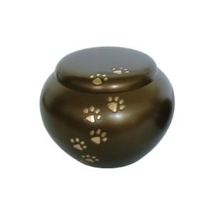 Brass - Pet Cremation Ashes Urn - Brown (FREE ENGRAVING)