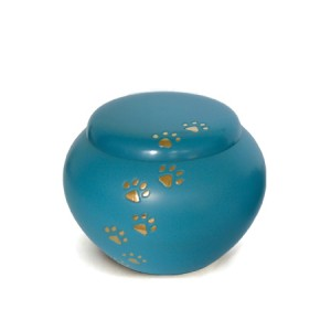 Brass - Pet Cremation Ashes Urn - Blue (FREE ENGRAVING)