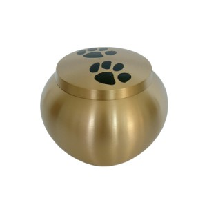 Brass - Pet Cremation Ashes Urn - Gold (FREE ENGRAVING)