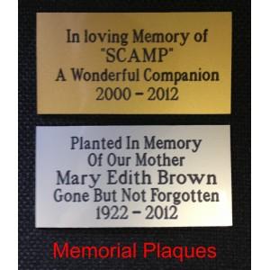 Engraving Plaque