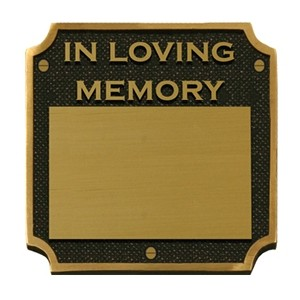 Solid Brass Memorial Plaque BPM04 (FREE ENGRAVING)