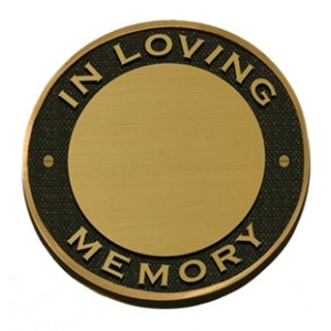 Solid Brass Memorial Plaque BPM05 (FREE ENGRAVING)