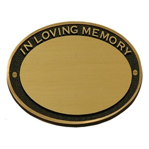 Solid Brass Memorial Plaque BPM08 (FREE ENGRAVING)