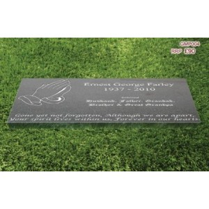 "Granite Memorial Plaque - Size: 12"" x 4"" x 1"" - (FREE ENGRAVING)"