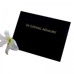 Black 'In Loving Memory' Condolence Book