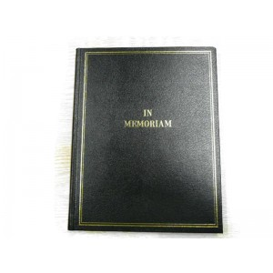 In Memoriam Condolence book, ruled, 200 pages