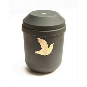 Biodegradable Urn (Grey with Dove Motif)