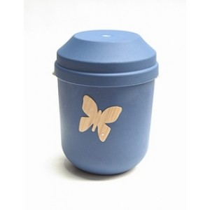 Biodegradable Urn (Blue with Butterfly Motif)