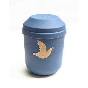 Biodegradable Urn (Blue with Dove Motif)