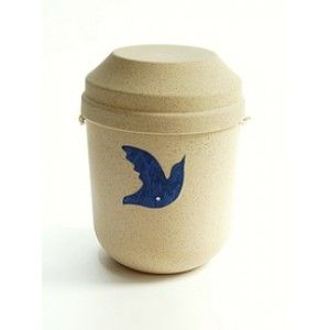 Biodegradable Urn (Cream with Dove Motif)