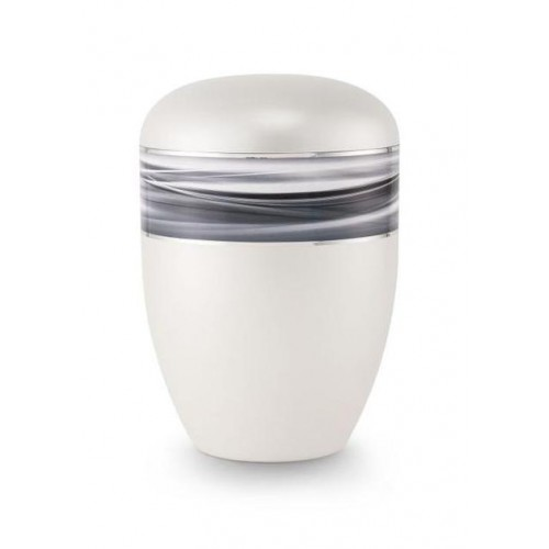 Biodegradable Urn (Wave Edition - White)