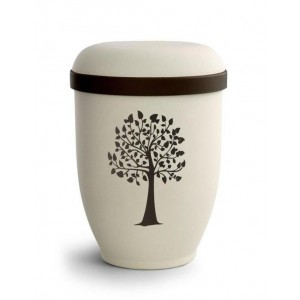 Biodegradable Urn (Natural Stone with Tree Design) **DISCOUNT URNS**