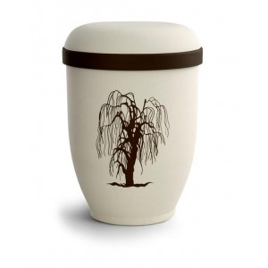 Biodegradable Urn (Natural Stone with Willow Design) ***MASSIVE 40% OFF LAST FEW REMAINING***
