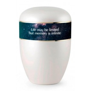 Biodegradable Cremation Ashes Urn (Infinite Memories) Galaxy Design
