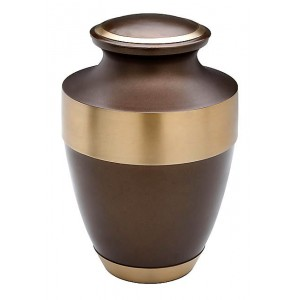 Brass Urn (Smokey Brown with Gold Band)