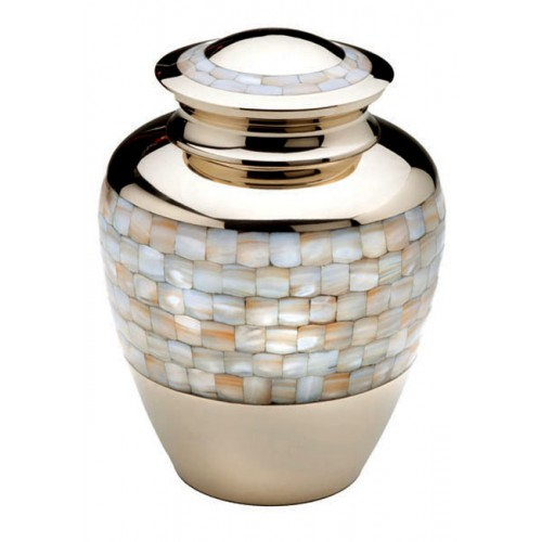Brass Urn (Gold and Mother of Pearl)