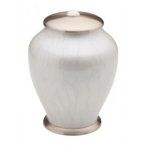 Simplicity Brass Cremation Ashes Urn (Mother of Pearl)