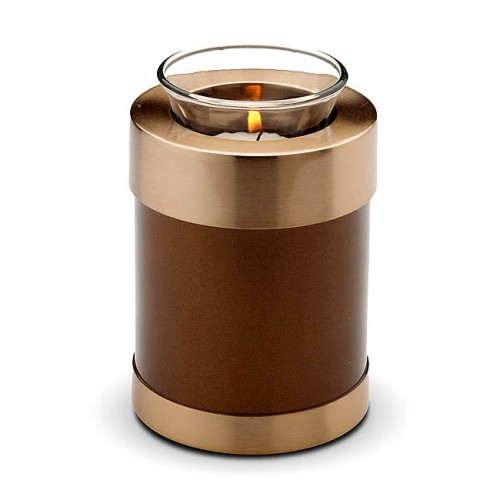 Pet Candle Holder Keepsake (Brown and Gold)
